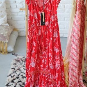 Dresses & Skirts - Paper closet red peasant dress size 8 NWT